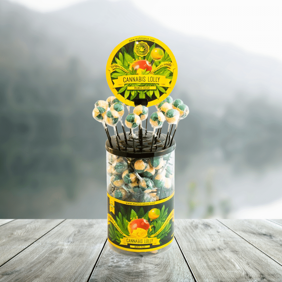Sucette au Cannabis Mango Kush - THC 0%